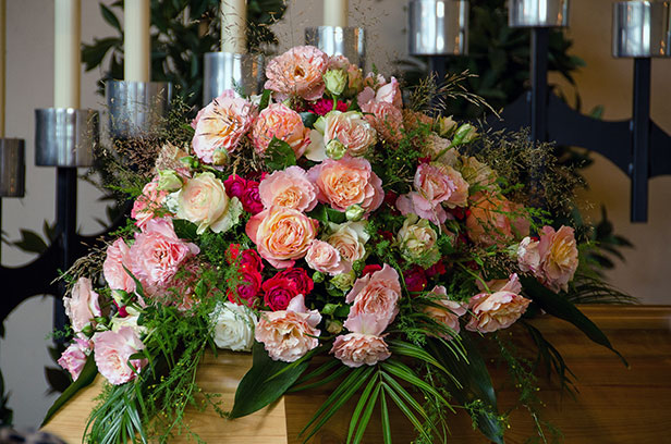 Fleurs pour funéraire